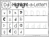 Letter D Worksheet Preview 2