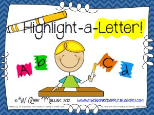 highlight a letter activity