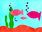 A Cool Construction Paper Aquarium Craft