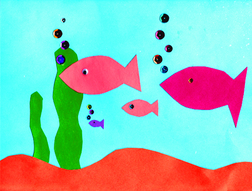 A Cool Construction Paper Aquarium Craft • Kindergarten Nation