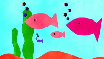A Cool Construction Paper Aquarium Craft