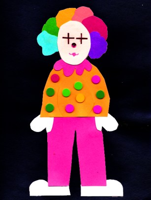 clown craft for kindergarten