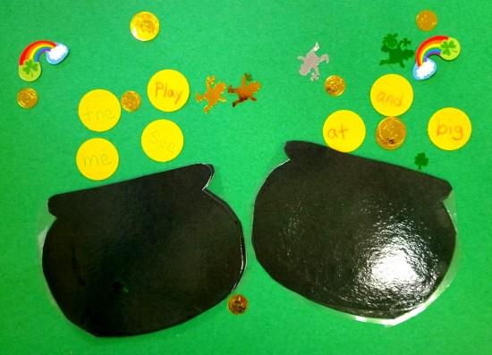 leprechaun site words activity for kindergarten