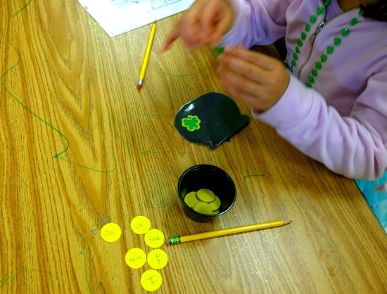 leprechaun site words activity