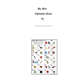 mini alphabet book template