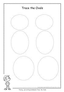 oval tracing worksheet free printable. Black Bedroom Furniture Sets. Home Design Ideas