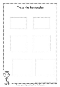 Rectangle tracing worksheet 1