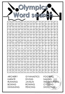 Olympics word search printable summer