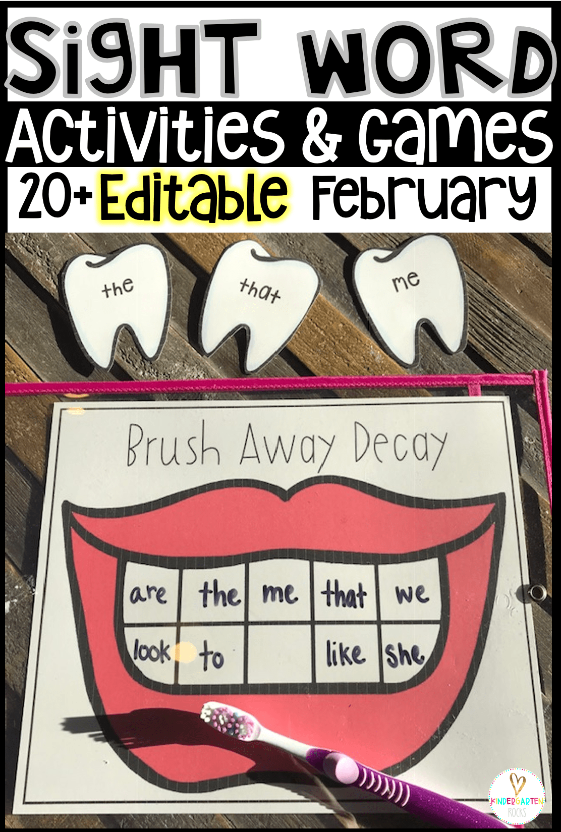 Valentine S Day Sight Word Games And Activities Editable