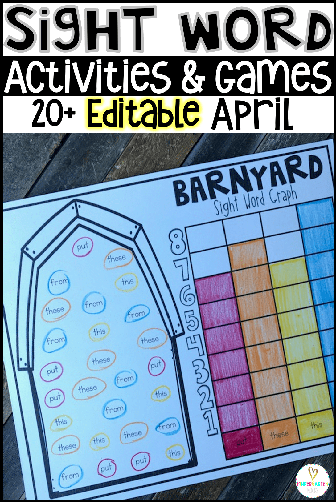 Spring Sight Word Games And Activities For April Editable