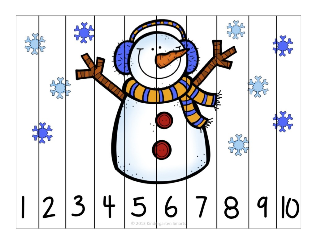 Winter Fun Counting Number Puzzles