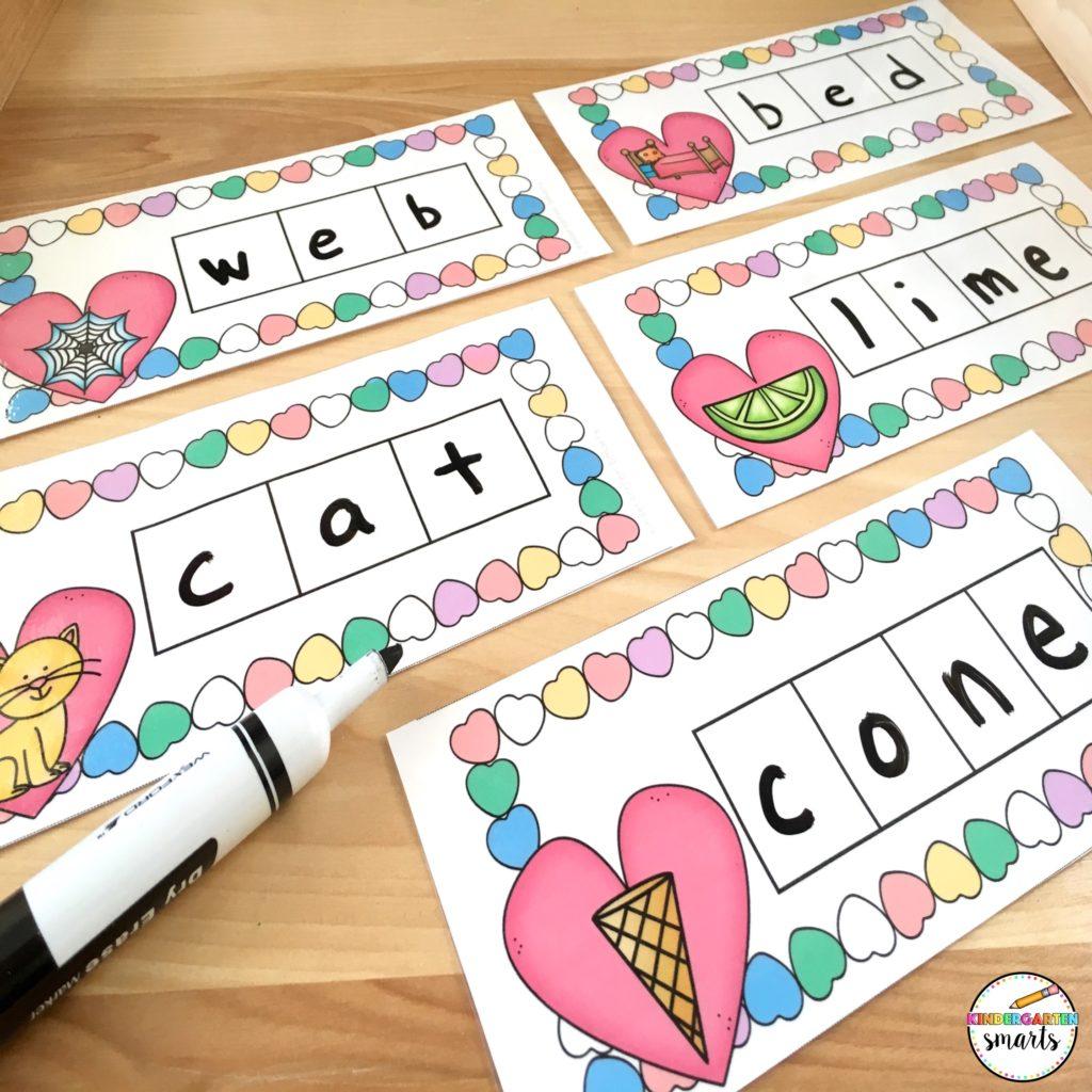 Valentines Day Phonics Worksheet For Kindergarten