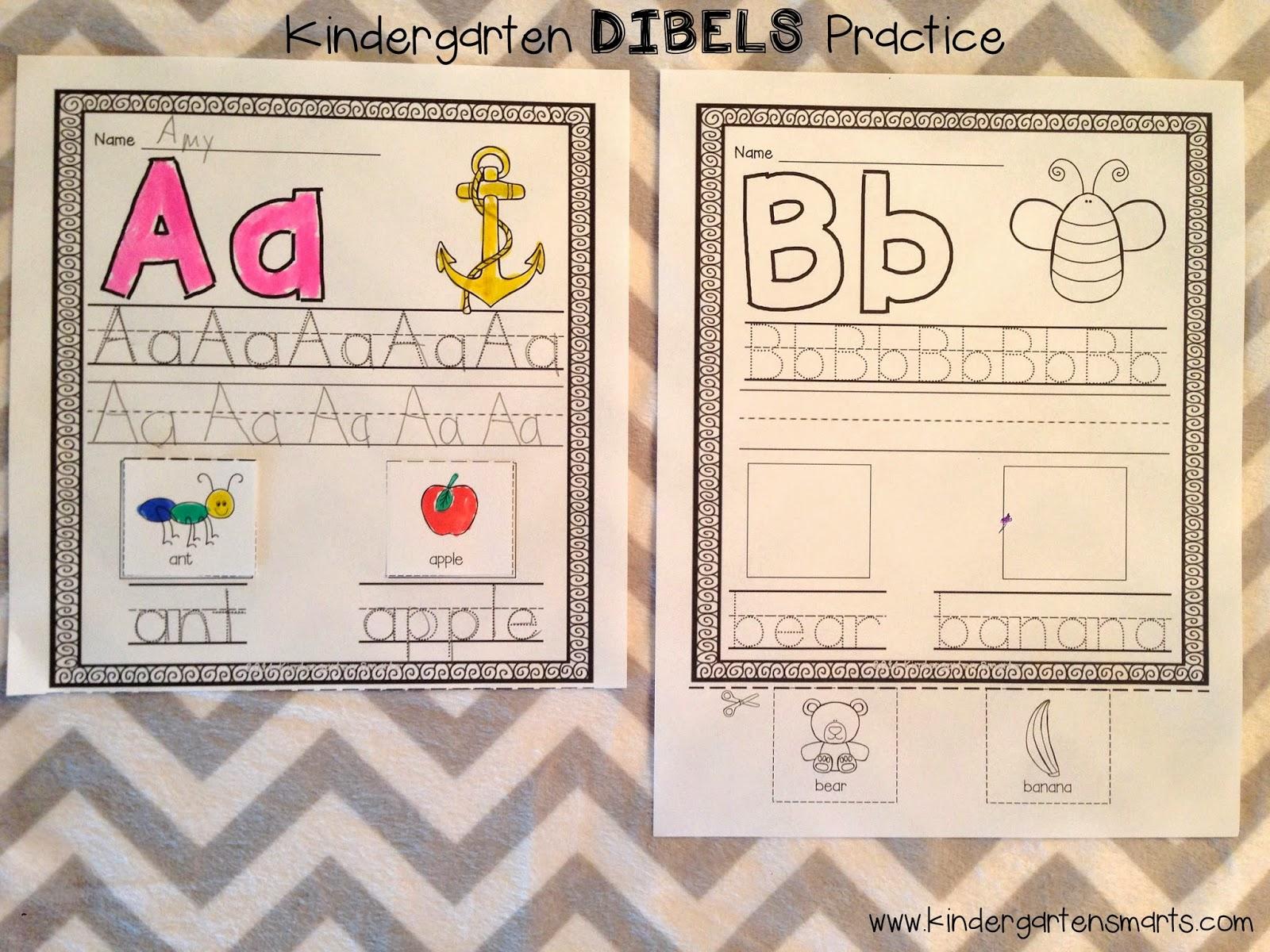 Kindergarten Dibels Practice And A Freebie
