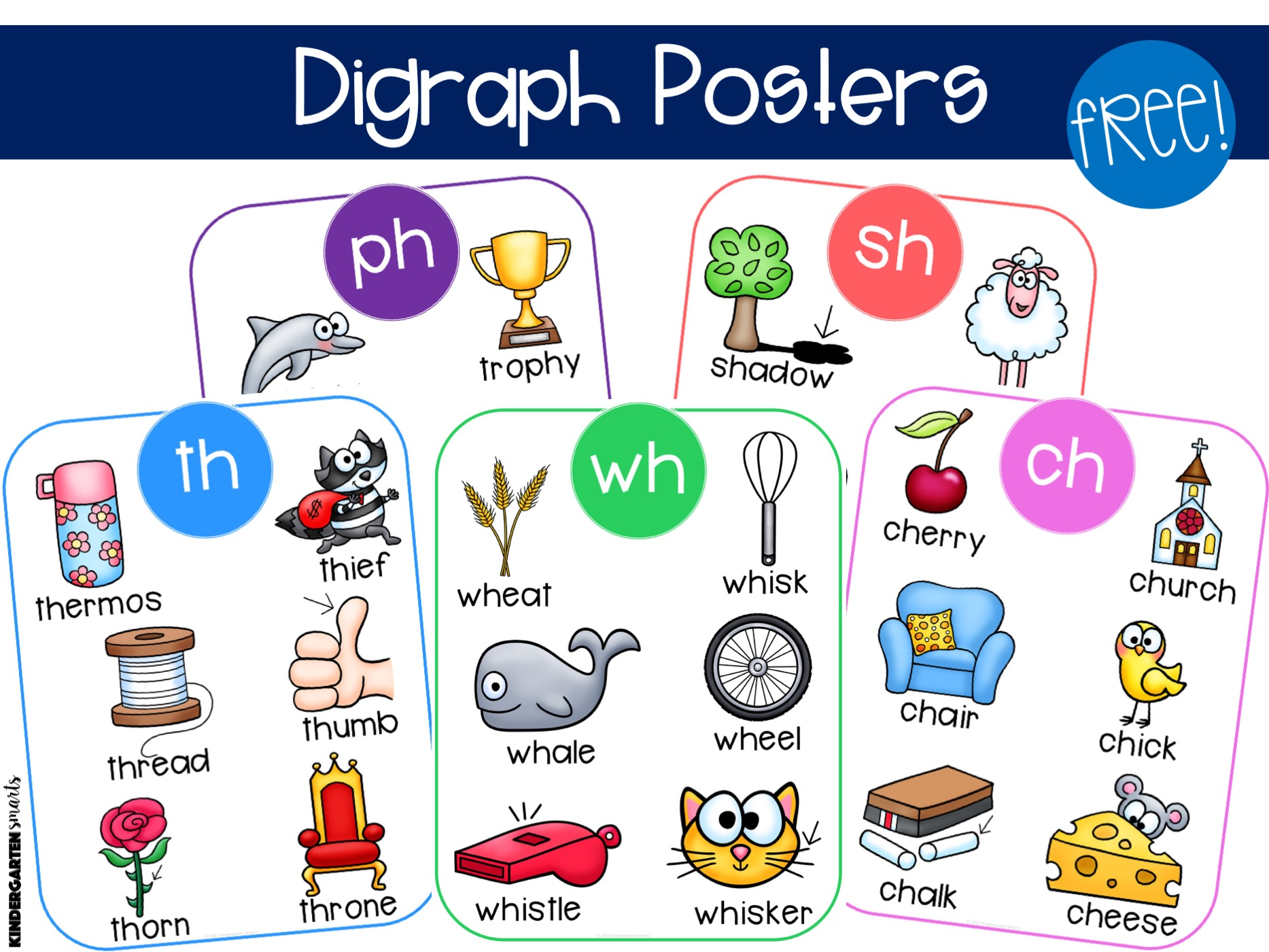 hight resolution of Consonant Digraphs: How to Teach Them in 5 Steps - Kindergarten Smarts