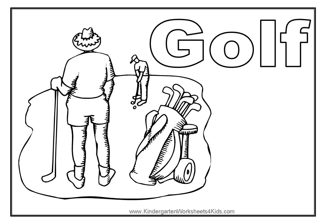 The Word Golf Sheets Coloring Pages