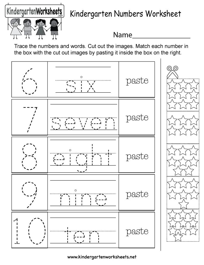 Kindergarten Numbers Worksheet  Free Kindergarten Math Worksheet For Kids