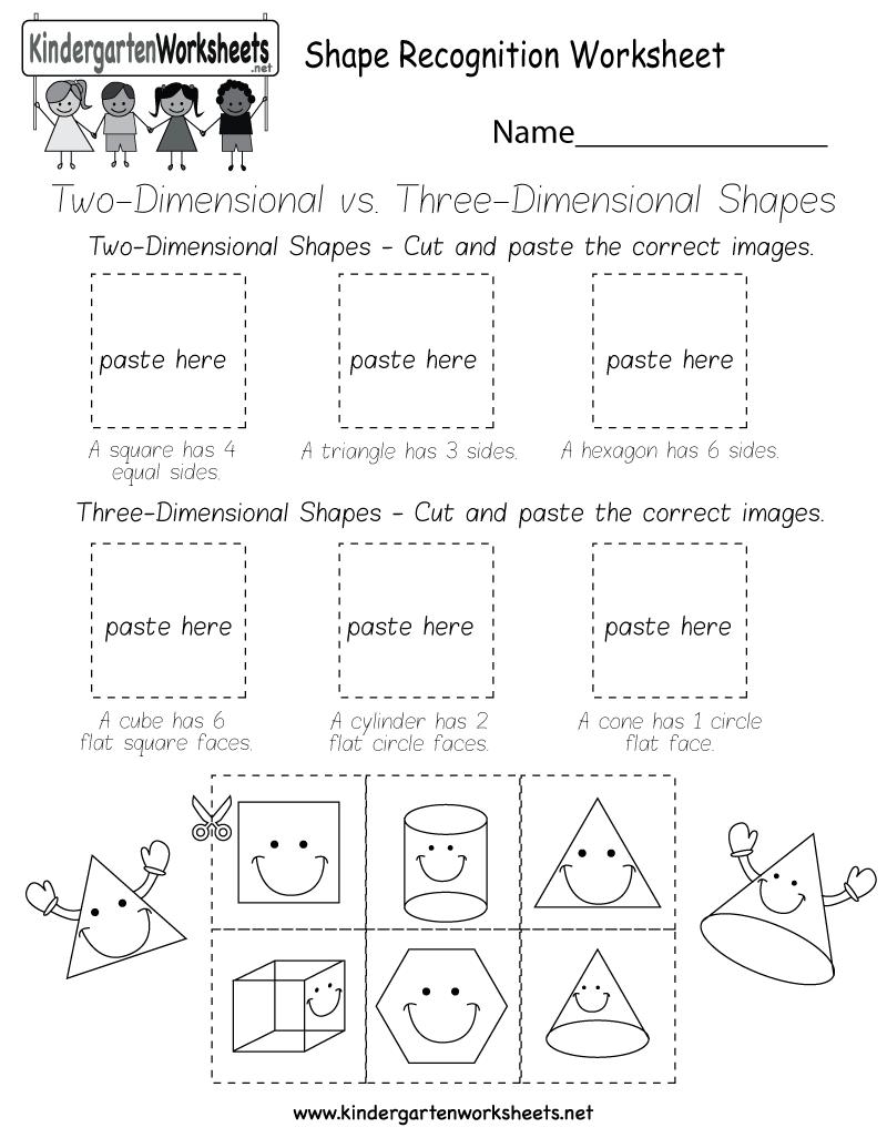 Shape Recognition Worksheet  Free Kindergarten Geometry Worksheet For Kids