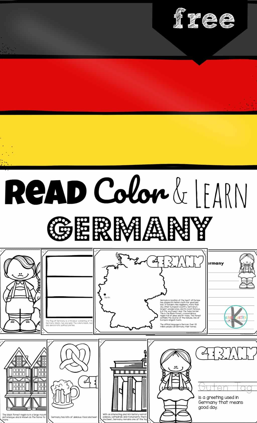 German Flag Coloring Page : german, coloring, Color, Learn, About, GERMANY