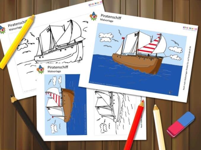 Malvorlage Piratenschiff Kindergaudi