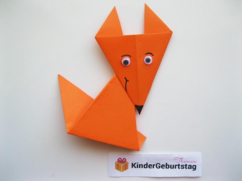 Fuchs basteln Anleitung fr Origami Fuchs