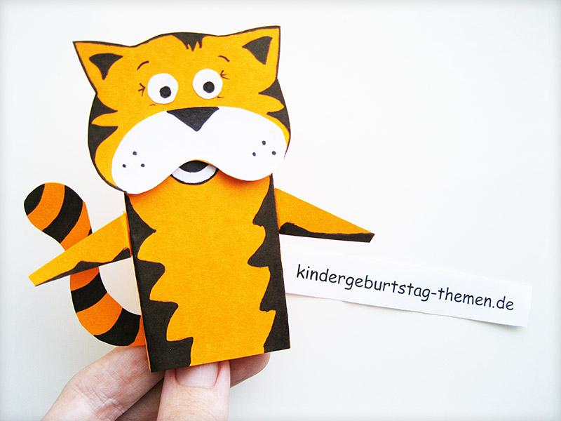 Tiger basteln Anleitung fr den Kindergarten und die Schule