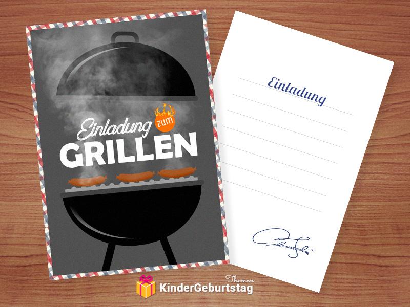 Einladung zum Grillen basteln Vorlagen fr beste BBQ Party