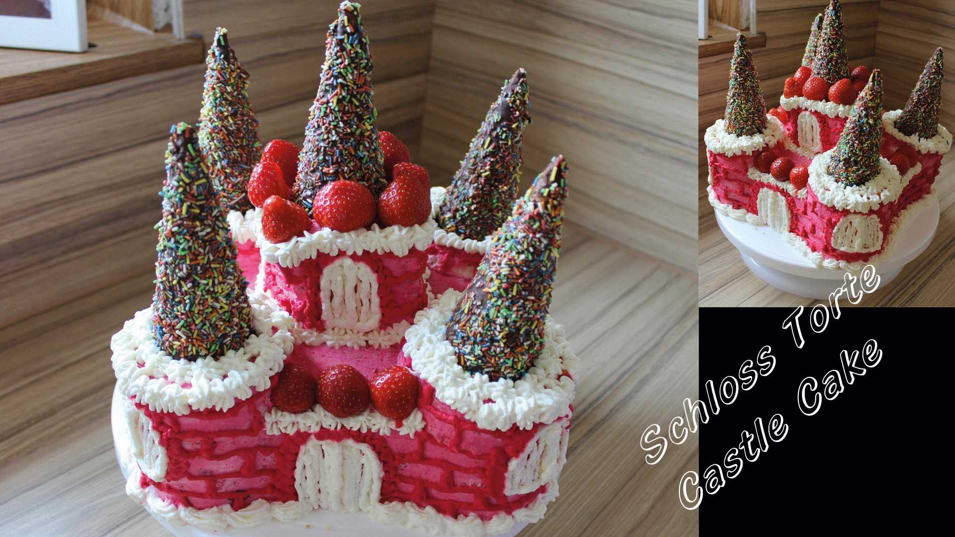 Schloss Kuchen Fur Kindergeburtstag Eiskonigin Frozen Torten