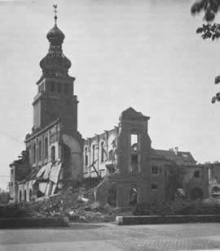 Zerstörte Kirche, Privatarchiv Abeln