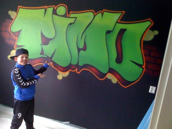 Graffiti op kinder kamer muren of wanden  Just another