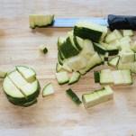 Zucchini gewürfelt