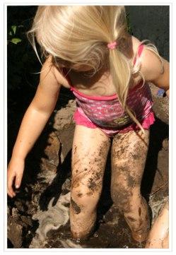 Maar gewoon ouderwetse modder blijft toch het allerleukst
