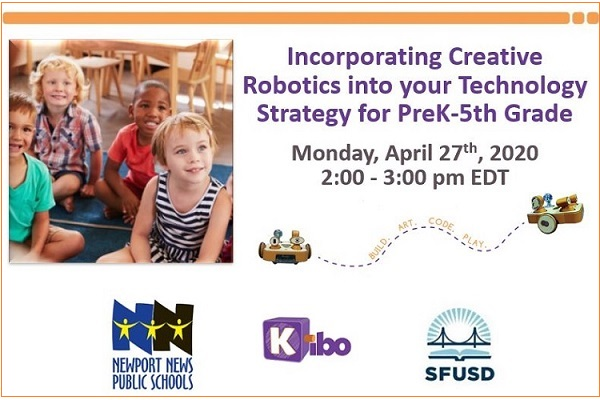 Incorporating Creative Robotics into your Technology Strategy for PreK-5th Grade