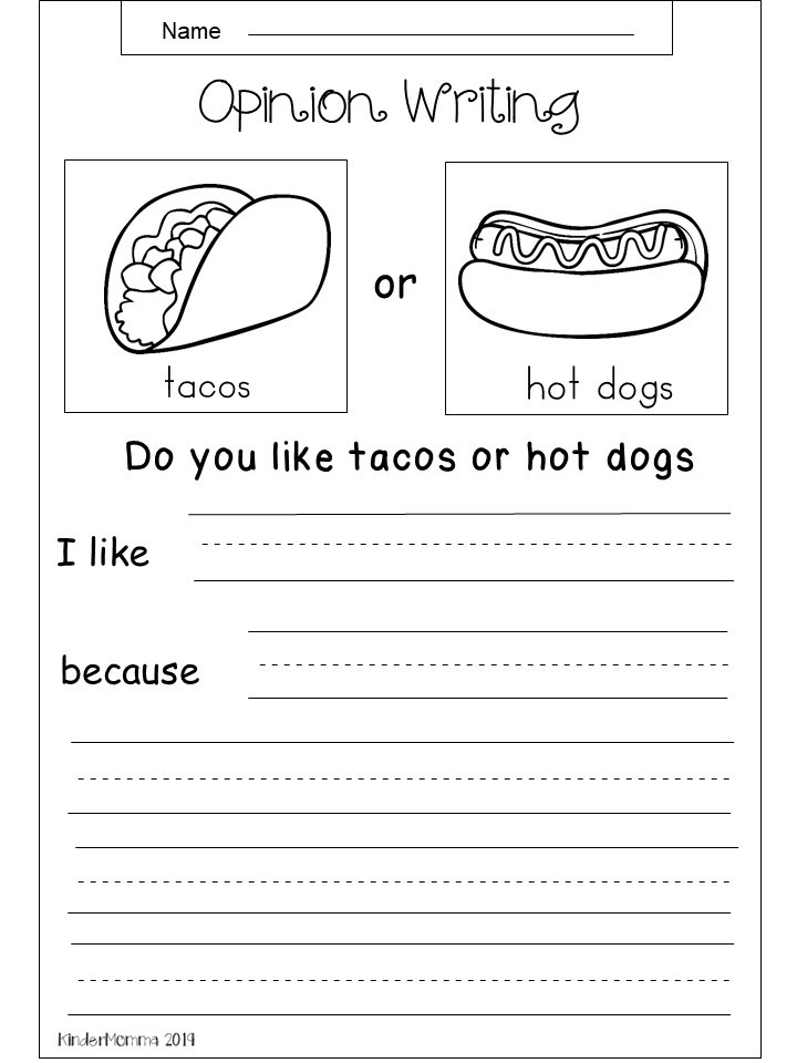 free opinion writing printable tacos vs hot dogs. Black Bedroom Furniture Sets. Home Design Ideas