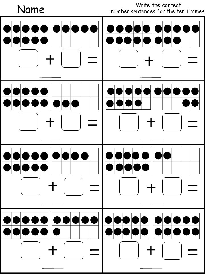 graphic relating to Printable Tens Frames named Totally free 10 Body Addition Printable -