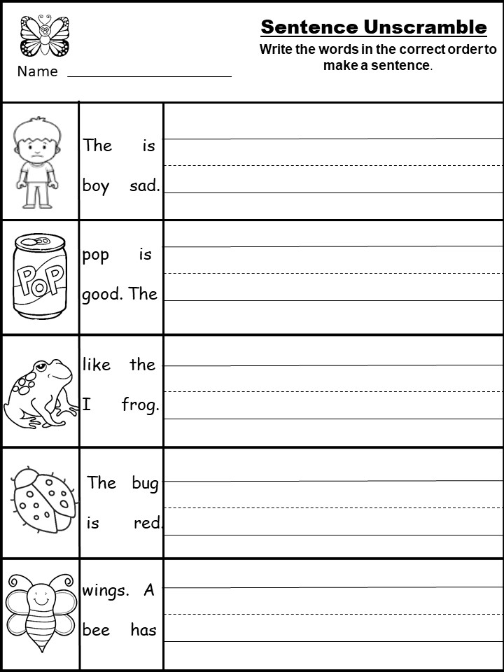 Free Sentence Writing Worksheet Archives - Kindermomma.com