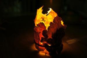 Fertig ist unser Unikat von einem Windlicht. So hat der Herbstblues keine Chance. Foto (c) kinderoutdoor.de