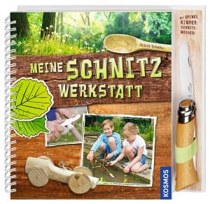 Das neue Buch von Astrid Schulte: Meine Schnitz Werkstatt und ein Opinel-Messer für Kinder ist auch dabei! Foto (c) kosmos verlag stuttgart