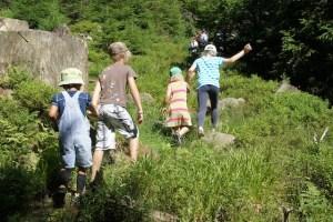 Schnitzeljagd am Kindergeburtstag? Dann ab in den Wald und folgt Tarzan, dem König des Dschungels! Foto (c) kinderoutdoor.de