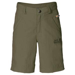 Jack Wolfskin Kinderhose mit UV Schutz: Die Sun Shorts K bietet Sonnenschutz.  Foto (c) jack Wolfskin