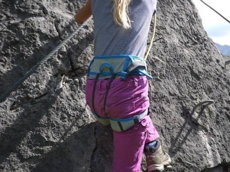 Der Klettersteig Spiderman in Warth-Schröcken ist ideal zum Üben. foto (c) kinderoutdoor.de