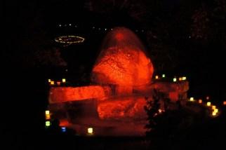 Warum zum Burning Man Festival, wenn es die Tonbachtal Beleuchtung Baiersbronn gibt. foto (c) kinderoutdoor.de
