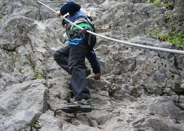 Klettersteige für Familien bereiten Euch keine Probleme, wenn Ihr entsprechend erfahren und ausgerüstet seid. foto (c) kinderoutdoor.de
