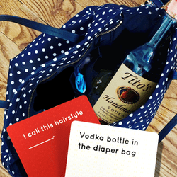 vodka bottle diaper bag kinderperfect card