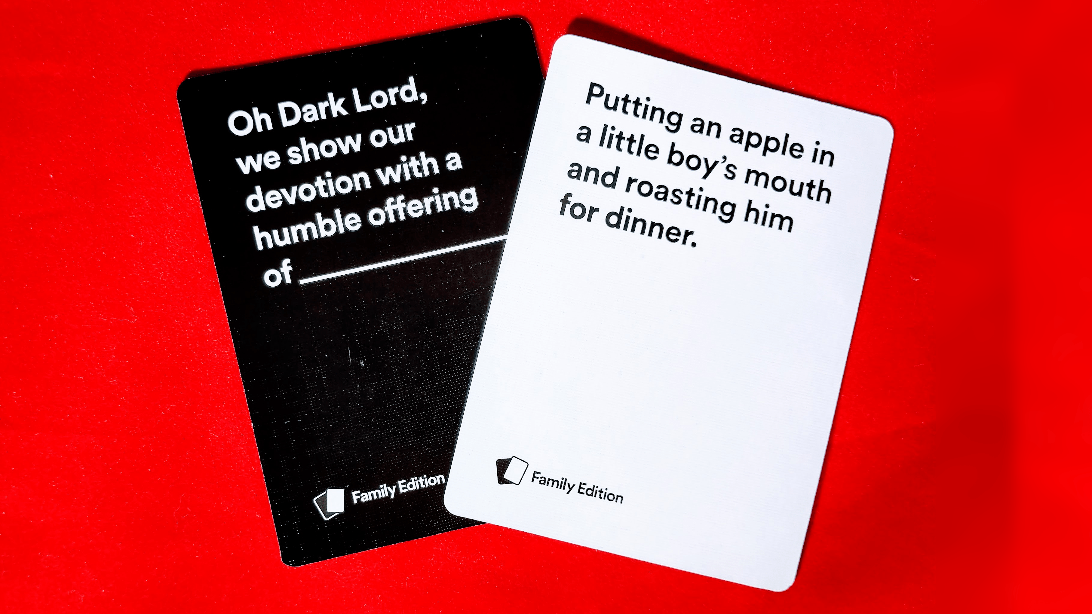 cards against humanity family edition cards