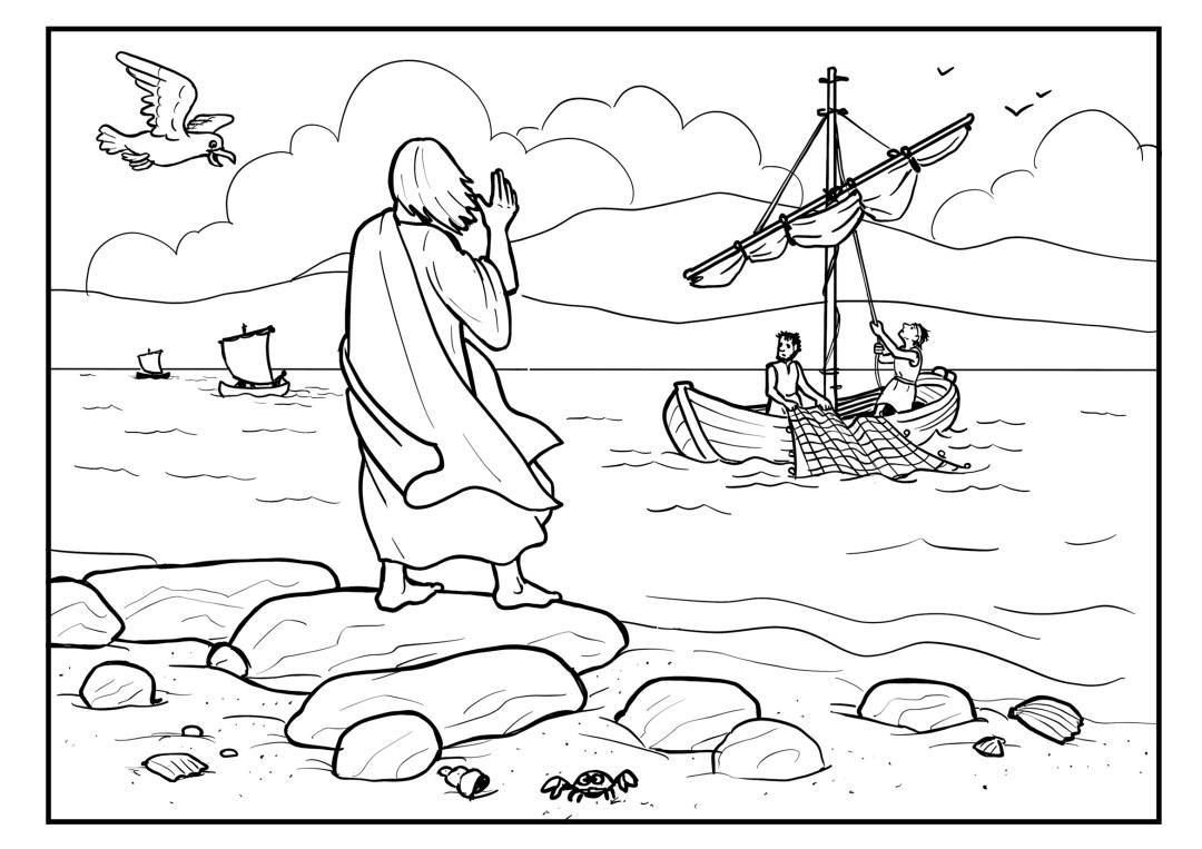 8 jesus und petrus  kindervertrauengott