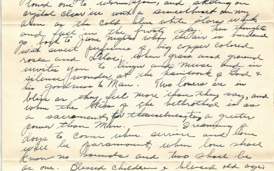 New Year's Letter, 1934