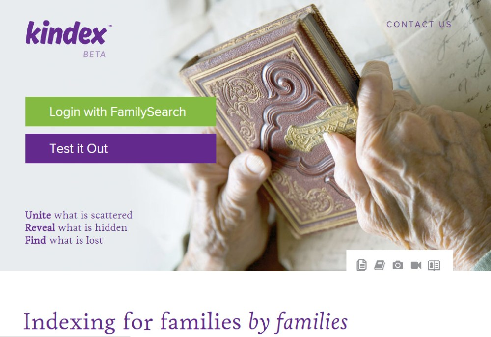 Kindex family indexing software