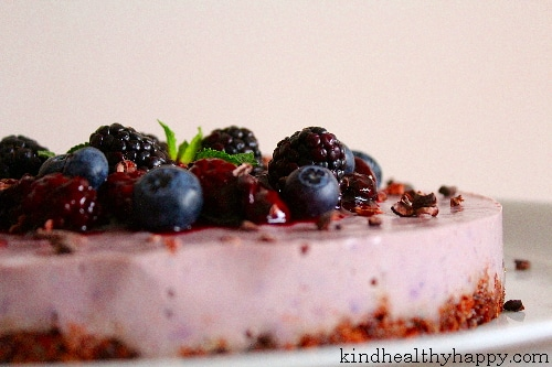 cheesecake sans cuisson cacao myrtille 6