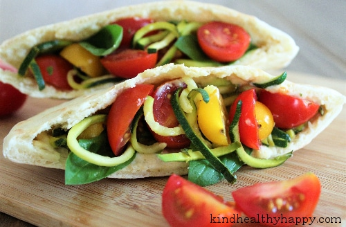 Sandwich Courgette Tomate Houmous 3