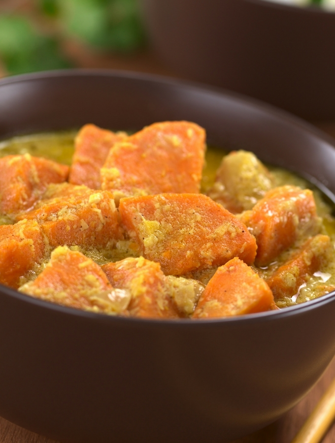 sweet potato Thai green curry